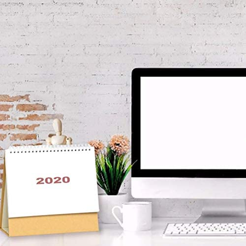 Pictury 2020 Tischkalender Einfacher Stil Tischkalender Tischkalender Jahr 2019-2020 Für Home-Office-Schreibtische constructive