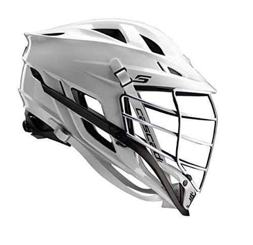 Cascade S Lacrosse Helmet (White Shell/Chrome Facemask)