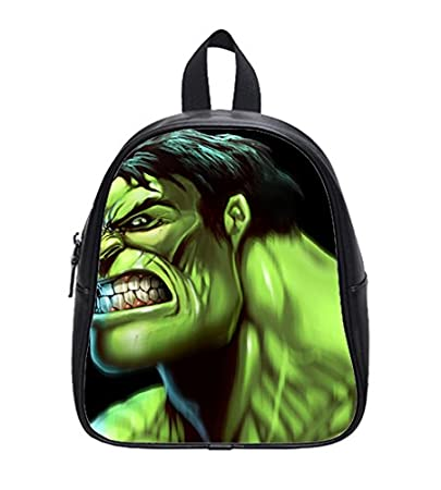 4cd41fa2a2 Amazon.com   Incredible Hulk FaceCustomize Personalized Stylish Kids School Backpack  Bags   Baby