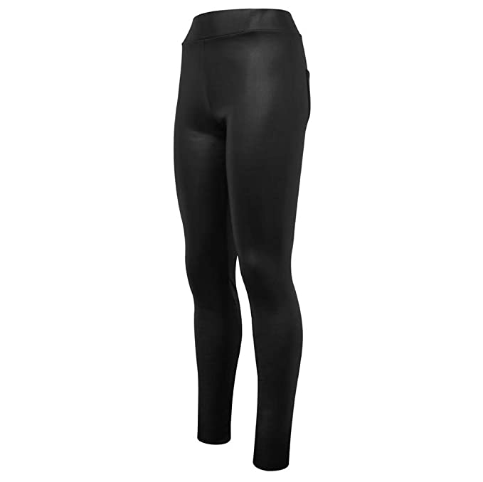 fd00ae9b08fea Palleon Damen Thermo Leggings Lederoptik Traggings Hose