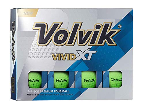 Volvik Vivid XT Golf Balls, Matte Green (One Dozen)