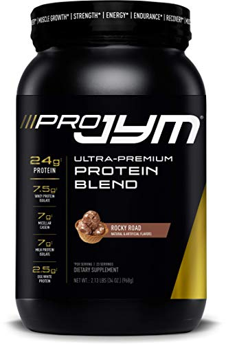 Pro Jym Protein Powder - Egg White, Milk, Whey Protein isolates & Micellar Casein | JYM Supplement Science | Rocky Road Flavor, 2 Lb (Pounds Rocky Flavor Road 2)