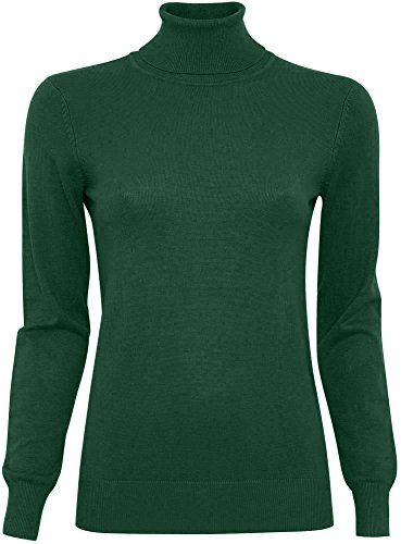 oodji Collection Mujer Jersey Básico de Viscosa Verde (6E00N)