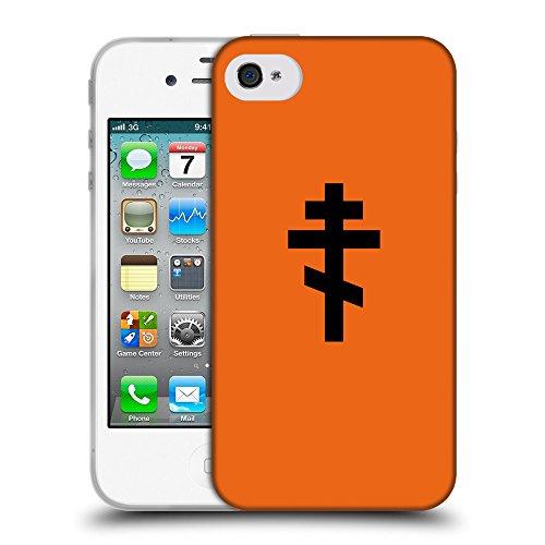 GoGoMobile Coque de Protection TPU Silicone Case pour // Q08510632 Religion 15 sécurité Orange // Apple iPhone 4 4S 4G