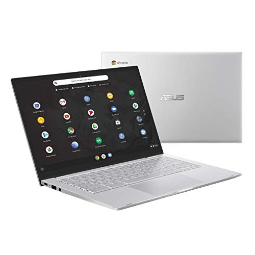 "2019 ASUS Chromebook C425, 14"" FHD, Intel Core M3-8100Y Processor, 8GB RAM, 64GB eMMC Storage, Backlit KB, Silver, Chrome OS, C425TA-DH384"