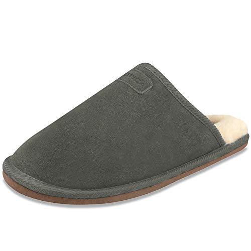 Nautica Mens Microsuede Somersby Slipper Small Steel Grey