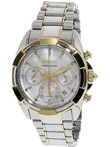 Seiko Women's SRW808 Silver Stainless-Steel Japanese Chronograph Fashion Watch