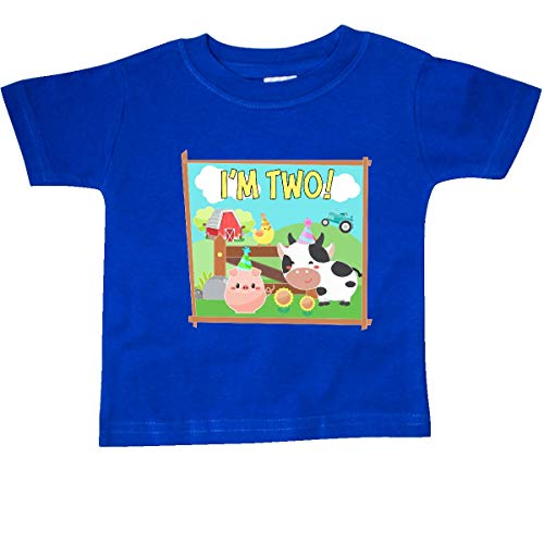 - inktastic - I'm Two! Farm Animals Baby T-Shirt 24 Months Royal Blue 3652b