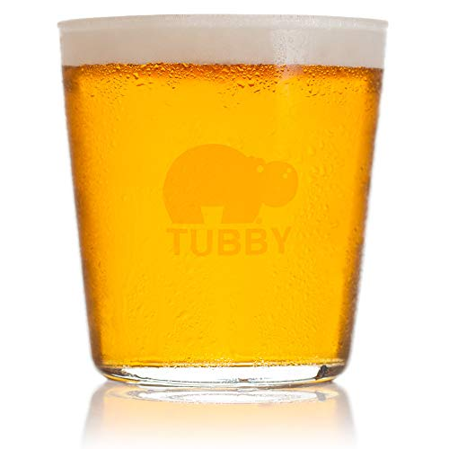 The Tubby – The Ultimate Beer Pint Glass 16 Ounce (Set of Two)