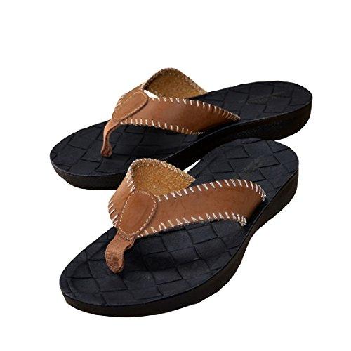 5 Summer Flat Vacanza Sandali N Taglia Scarpe 5 Camel Infradito Toe O 6 amp; Mens Post Da Beach FYntqa