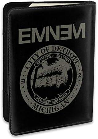 Eminem エミネム パスポートケース メンズ 男女兼用 パスポートカバー パスポート用カバー パスポートバッグ ポーチ 6.5インチ高級PUレザー 三つのカードケース 家族 国内海外旅行用品 多機能