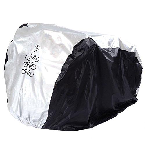FunYoung Fietshoes, waterdicht, polyester, fietshoes, fietsgarage, zilverkleurig, zwart