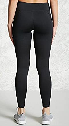 Hurrg Womens Mesh Elastic Running Patched Skinny Stretchy Bodycon Yoga Pants