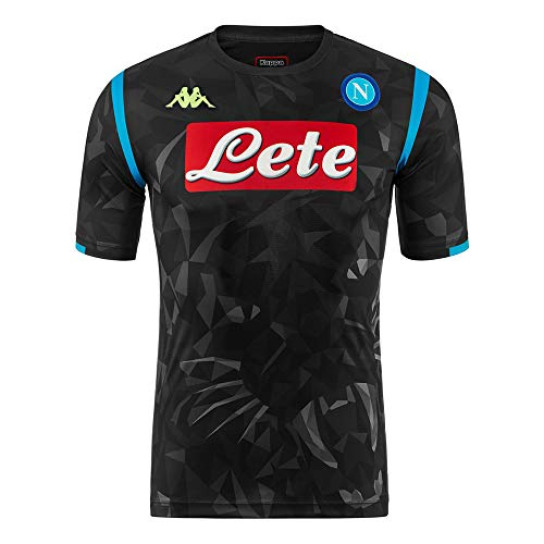 Kappa SSC Napoli Champion s League Replica Away Black Shirt 2018-19  Original XL (Chest 57f6f216637d