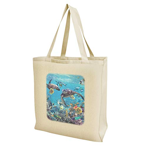 Reusable Sea Grocery Turtles Reef Bag Ocean Large Diving Coral Travel Tote SWRBScg