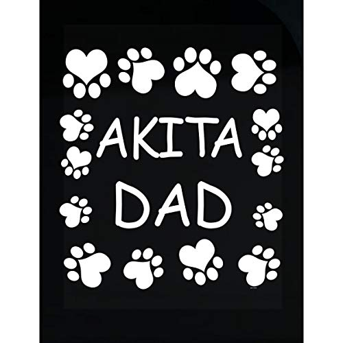 - BADASS REPUBLIC Akita Dad Lovers Owners Gift for Christmas Birthday - Transparent Sticker