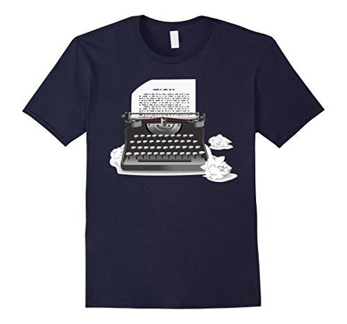Mens Vintage Writer Manual Portable Typewriter T-shirt Sm...