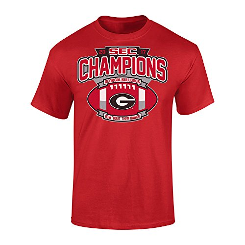 Georgia Bulldogs SEC Champs TShirt 2017 Red Football