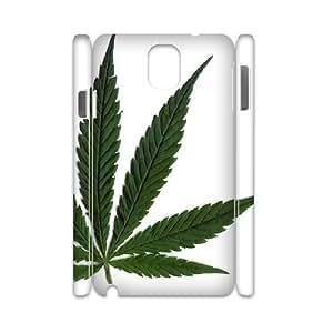 3D Samsung Galaxy Note 3 Cases, Cute Design Marijuana Leaf Cases for Samsung Galaxy Note 3 {White}