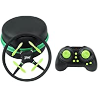 Fineser Mini UFO Quadcopter Drone 2.4G 4CH 4 Axis Remote Control Nano Quadcopter RTF With 3D Flip Flash Light for Kids and Beginner (Green)
