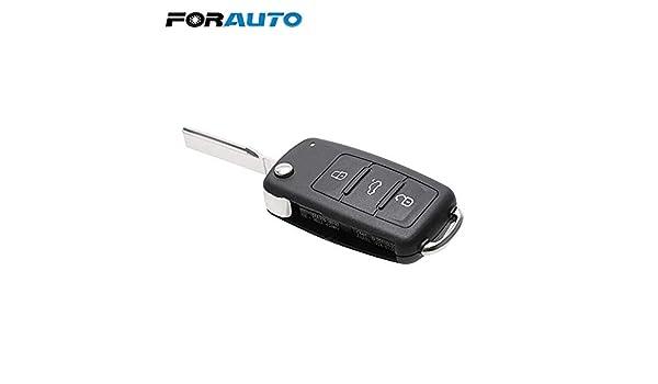 Aki-dreams-house - Funda para llave de coche con 3 botones para Beetle/Caddy/Eos/Golf/Jetta/Polo/Scirocco/Tiguan/Touran/UP para llaves en blanco de VW: Amazon.es: Bricolaje y herramientas