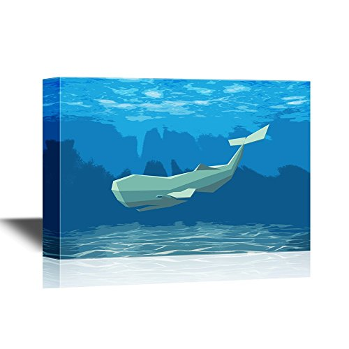 A Geometric Whale Swimming under the Ocean Gallery