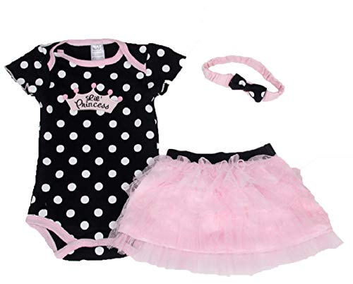 (Baby Girl's Zebra-Striped Rose Romper Dress with Headband (3 Months, Black))