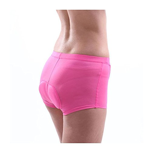 Xcellent Global 3D Padded Women's Bicycle Cycling Underwear Shorts Underpants - FS015,Large,Pink