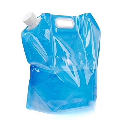 OUTERDO 5L/10L Trinkblase Wasserbehälter Wasserblase Trink Sack Wasserbeutel Water Bag Blau 10L