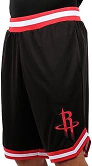 Ultra Game NBA Houston Rockets Mens Woven Basketball Shorts, Team Color, Medium