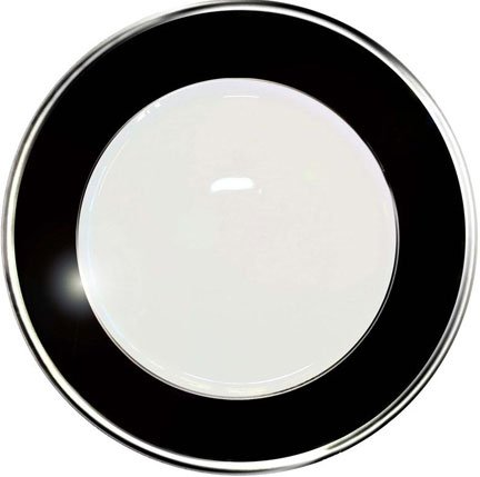 Haviland Laque de Chine Platinum Noir Bread & Butter Plate 6.3 in