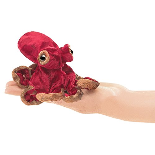 Folkmanis Mini Red Octopus Finger Puppet by Folkmanis