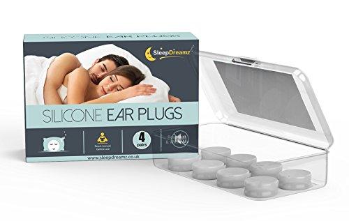 SleepDreamz Silicone Ear Plugs (x4 pairs) – NOISE CANCELLING EAR PLUGS! -...