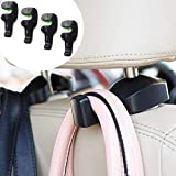 CIKIShield 17 Pack of 4 Universal Car Vehicle Back Seat Headrest Hanger Holder Hook for Bag Purse Cloth Grocery