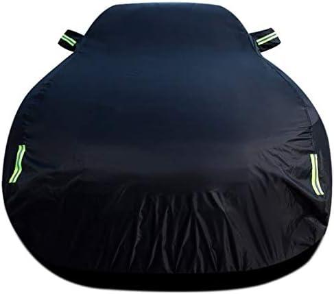 BMW X3 / X4 / X5 / X6 M肥厚防水フルカバレッジカーカバーは耐熱断熱難燃剤保護カバーSnowproofカーシールドを涙と互換性 (Color : Black (plus velvet), Size : X5 M)
