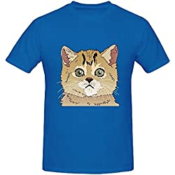 Existlong Cats Archives Men Printed T Shirts O Neck Blue