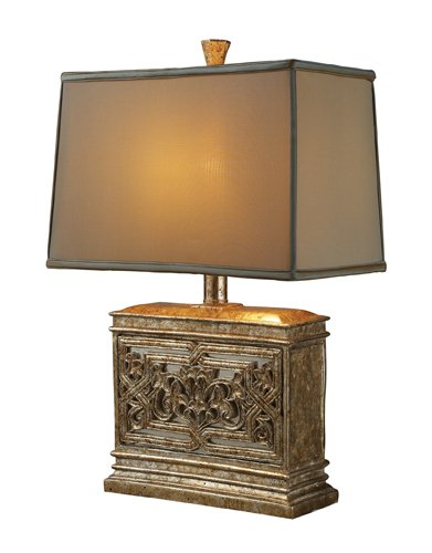 Dimond D1443 Laurel Run Table Lamp, Courtney Gold with Mirror by Dimond Lighting