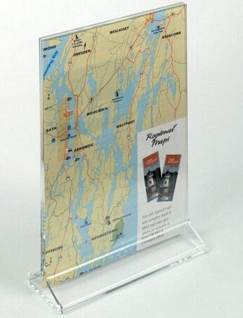 of 3 Pcs 5 x 7 Acrylic Sign Holder for Tabletops, Top Insert, T-Style - Clear 19018 19018! ()