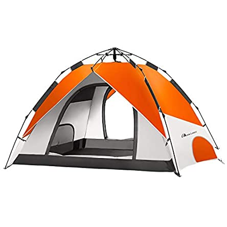 MOON LENCE Pop Up Tent Family Camping Tent 4 Person...