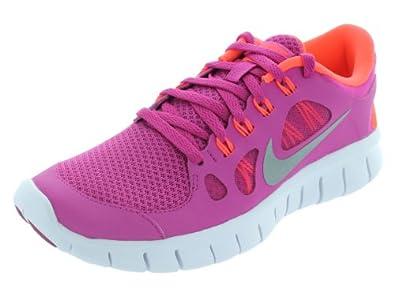 NIKE Free 5.0 Girls Running Shoes, Pink/Red, UK5.5: Amazon