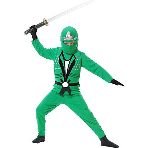 Ninja Avenger II Child Costume Green - -