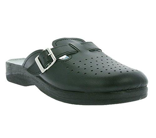 Magnus Homens Sapatos Chinelos Chinelos Pretos 62-0619-a1