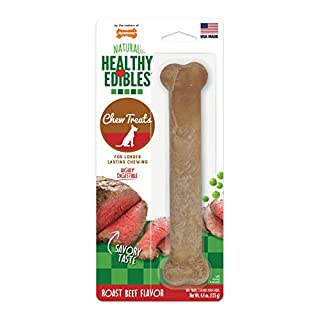 Nylabone Healthy Edibles All-Natural Long Lasting Roast Beef Chew Treats Roast Beef Flavor Giant - Up to 50 lbs.