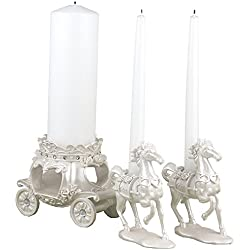 2 SETS of 3 Elegant Fairytale Unity Candle Holders