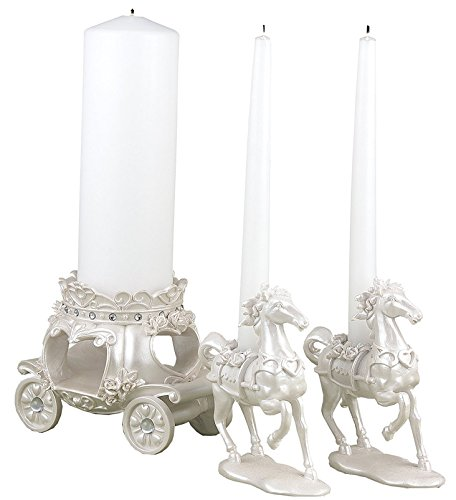 2 SETS of 3 Elegant Fairytale Unity Candle Holders