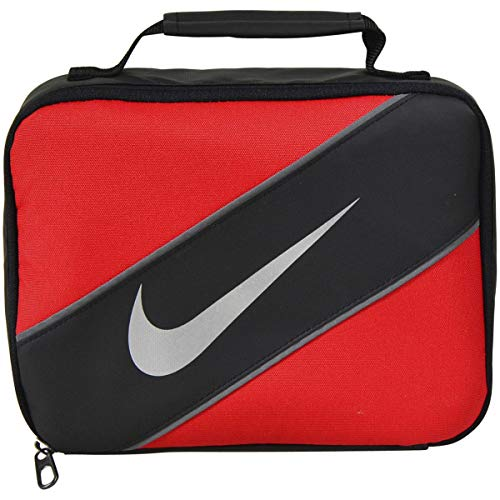 Nike Contrast Insulated Reflective Universal Red Tote Lunch Bag (Red Lunch Box)