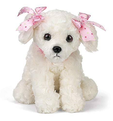 (Bearington Sassy Plush Stuffed Animal White Puppy Dog 13
