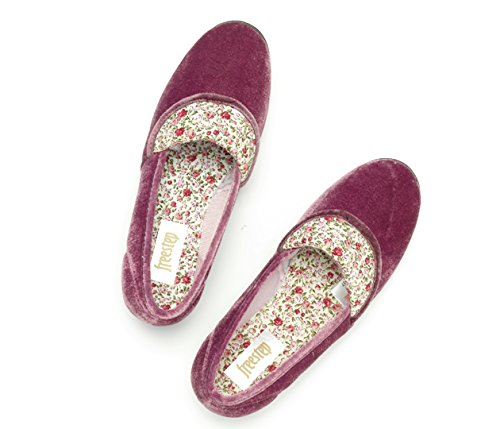 Freestep oscuro rojo Material Zapatillas estar jaspeado por para de de Sintético mujer casa rar6Cxqw