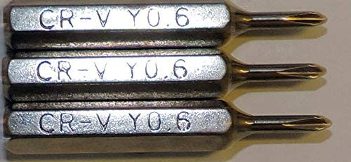 10 Lot Tri-Point Y000 Replacement Bits for 4mm Mini Hex Drive Screwdrivers or Power Drivers