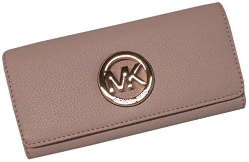 Michael Kors Fulton Flap Continental Leather Wallet Ballet Pink